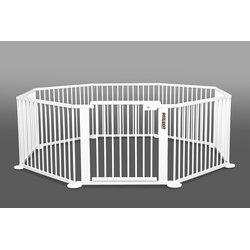 ONE4all 1+7 WHITE  Octogon - XXL Parc / playpen, Solid...