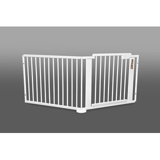 ONE4all 1+1 WHITE – Safety Gate / Stair Gate / Barrier / Guard