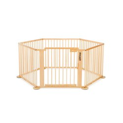 ONE4all 1+5 ? Hexagon - Parc / playpen, Solid Birchwood